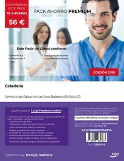 PACK AHORRO PREMIUM. Celador. Servicio de Salud de las Illes Balears (IB-SALUT) (Incluye Temario Vol.I y Vol.II, Test y Simulacros de examen + CURSO PREMIUM Online)