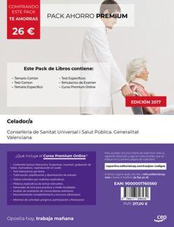 PACK AHORRO PREMIUM. Celador. Conselleria de Sanitat Universal i Salut Pública. Generalitat Valenciana. (Incluye Temario y Test Común, Temario específico, Test Específico y Simulacros de Examen + Curso PREMIUM Online)