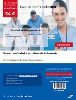 PACK AHORRO PRÁCTICO. Técnico en Cuidados Auxiliares de Enfermería. Servicio Navarro de Salud-Osasunbidea (Incluye Test y Simulacros de examen + Curso PRÁCTICO Online)