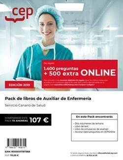 PACK DE LIBROS Oposiciones Auxiliar de Enfermería Servicio Canario de Salud
