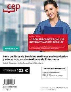 PACK DE LIBROS Oposiciones Servicios auxiliares socio-sanitarios y educativos, escala Auxiliares de Enfermería. Administración de la Generalitat Valenciana