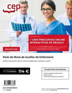 PACK DE LIBROS Oposiciones Auxiliar de Enfermería Junta de Castilla y León