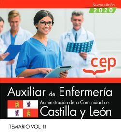 Auxiliar de Enfermería de la Administración de la Comunidad de Castilla y León. Temario Vol. III