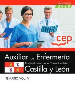 Auxiliar de Enfermería de la Administración de la Comunidad de Castilla y León. Temario Vol. IV