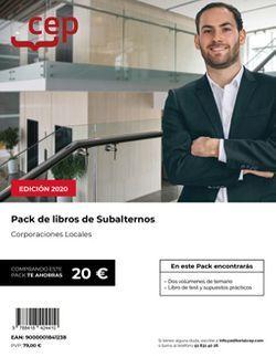 PACK DE LIBROS. Subalternos. Corporaciones Locales.