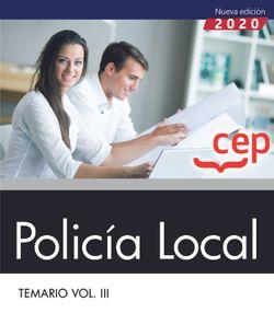 Libro digital. Policía Local. Temario Vol. III