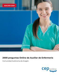 2000 preguntas de Cuerpo auxiliar. Escala auxiliar de enfermería. Comunidad Autónoma de Aragón
