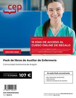 PACK DE LIBROS. Cuerpo auxiliar. Escala auxiliar de enfermería. Comunidad Autónoma de Aragón