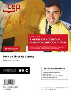 PACK DE LIBROS + Curso Online 3 meses Personal Laboral Correos