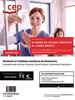 Pack de libros +  Curso básico. Técnico/a en Cuidados Auxiliares de Enfermería. Conselleria de Sanitat Universal i Salut Pública. Generalitat Valenciana.