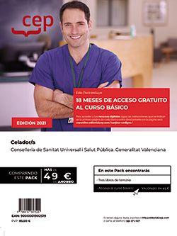 Pack de libros +  Curso básico. Celador/a. Conselleria de Sanitat Universal i Salut Pública. Generalitat Valenciana.