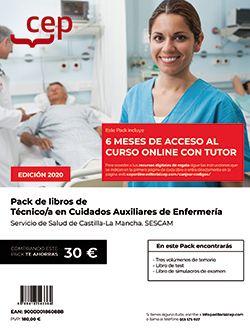 PACK CURSO + LIBROS TEÓRICOS. Técnico/a en Cuidados Auxiliares de Enfermería. Servicio de Salud de Castilla-La Mancha. SESCAM.