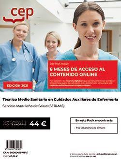 Pack teórico + Contenido online. Técnico Medio Sanitario en Cuidados Auxiliares de Enfermería. Servicio Madrileño de Salud (SERMAS)