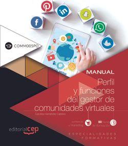 Scorm. Perfil y funciones del gestor de comunidades virtuales (COMM005PO)