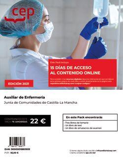 Pack libros + acceso 15 días contenido online. Auxiliar de Enfermería. Junta de Comunidades de Castilla-La Mancha