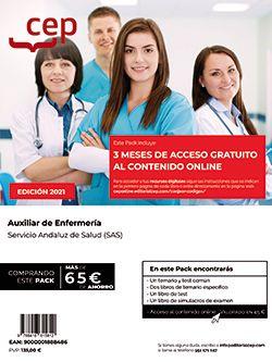 Pack libros + Contenido Online. Auxiliar de Enfermería. Servicio Andaluz de Salud (SAS)