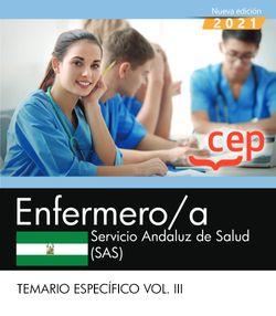 Enfermero/a. Servicio Andaluz de Salud (SAS). Temario específico Vol. III