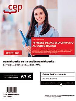 Pack teórico + Curso Básico. Administrativo de la Función Administrativa. Servicio Madrileño de Salud (SERMAS)