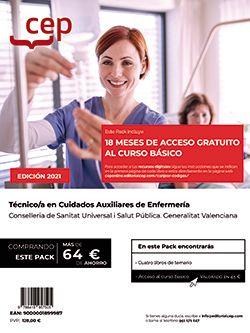 Pack teórico +  Curso básico. Técnico/a en Cuidados Auxiliares de Enfermería. Conselleria de Sanitat Universal i Salut Pública. Generalitat Valenciana
