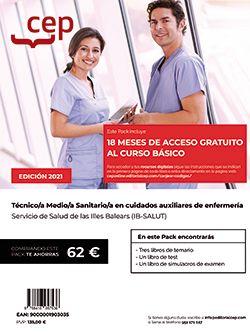 Pack de libros +  Curso básico. Técnico/a Medio/a Sanitario/a en cuidados auxiliares de enfermería. Servicio de Salud de las Illes Balears (IB-SALUT)