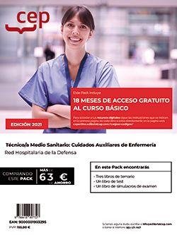 Pack de libros +  Curso básico. Técnico/a Medio Sanitario: Cuidados Auxiliares de Enfermería. Red Hospitalaria de la Defensa