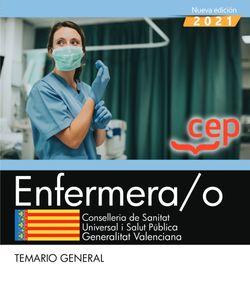 Enfermera/o. Conselleria de Sanitat Universal i Salut Pública. Generalitat Valenciana. Temario general