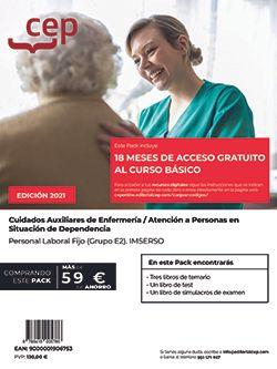 Pack de libros + Curso Básico. Cuidados Auxiliares de Enfermería / Atención a Personas en Situación de Dependencia. Personal Laboral Fijo (Grupo E2). IMSERSO