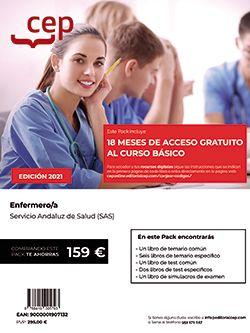 Pack de libros + Curso Básico. Enfermero/a. Servicio Andaluz de Salud (SAS)