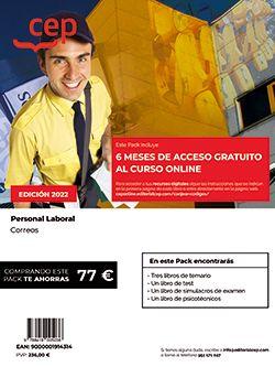 PACK DE LIBROS + Curso Online 6 meses Personal Laboral Correos